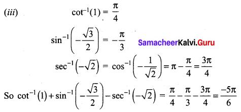 Samacheer Kalvi 12th Maths Solutions Chapter 4 Inverse Trigonometric Functions Ex 4.4 Q2.1