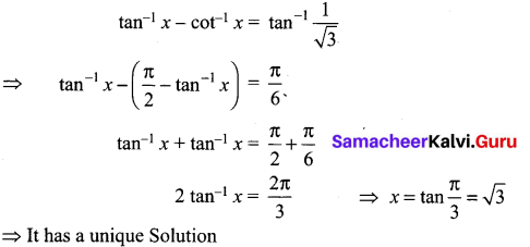 Samacheer Kalvi 12th Maths Solutions Chapter 4 Inverse Trigonometric Functions Ex 4.6 17