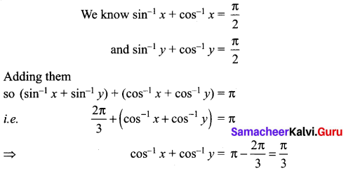 Samacheer Kalvi 12th Maths Solutions Chapter 4 Inverse Trigonometric Functions Ex 4.6 2