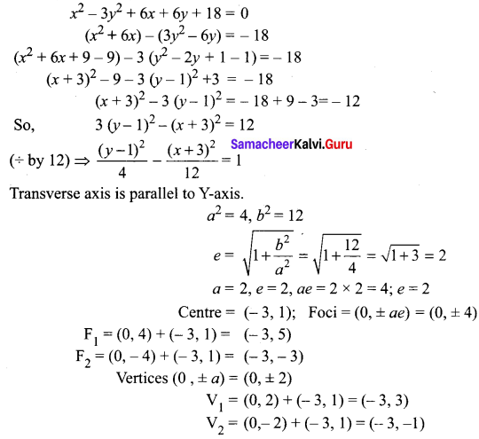 Samacheer Kalvi 12th Maths Solutions Chapter 5 Two Dimensional Analytical Geometry - II Ex 5.2 17