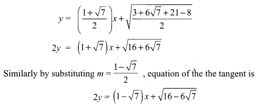 Samacheer Kalvi 12th Maths Solutions Chapter 5 Two Dimensional Analytical Geometry - II Ex 5.4 11