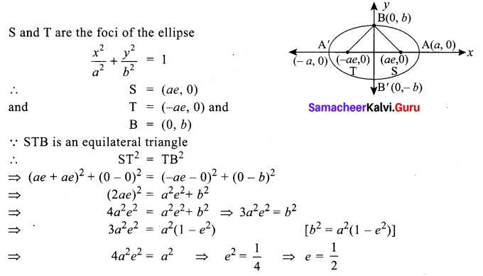Samacheer Kalvi 12th Maths Solutions Chapter 5 Two Dimensional Analytical Geometry - II Ex 5.6 27