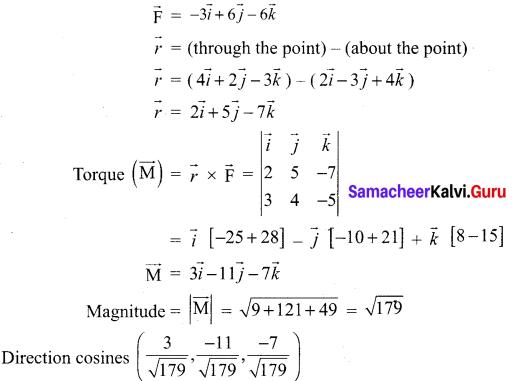 Ch 6 Maths Class 12 Samacheer Kalvi Applications Of Vector Algebra Ex 6.1