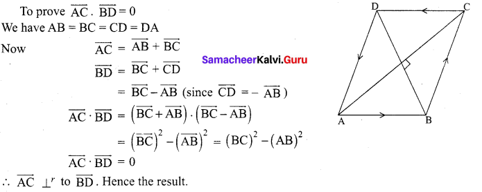 12th Maths Chapter 6 Samacheer Kalvi Chapter 6 Applications Of Vector Algebra Ex 6.1