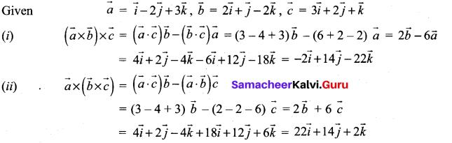Samacheer Kalvi 12th Maths Solutions Chapter 6 Applications of Vector Algebra Ex 6.3 2