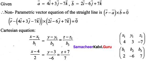 Samacheer Kalvi 12th Maths Solutions Chapter 6 Applications of Vector Algebra Ex 6.4 1