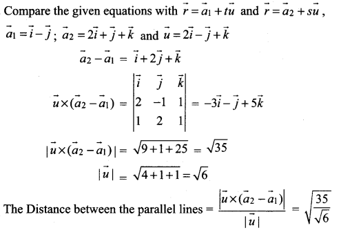 Samacheer Kalvi 12th Maths Solutions Chapter 6 Applications of Vector Algebra Ex 6.5 17