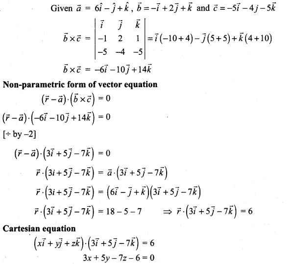 Samacheer Kalvi 12th Maths Solutions Chapter 6 Applications of Vector Algebra Ex 6.7 10