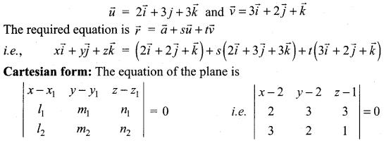 Samacheer Kalvi 12th Maths Solutions Chapter 6 Applications of Vector Algebra Ex 6.7 11