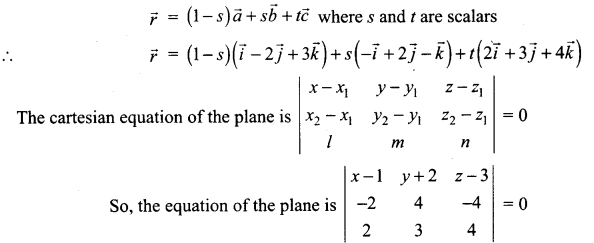 Samacheer Kalvi 12th Maths Solutions Chapter 6 Applications of Vector Algebra Ex 6.7 15