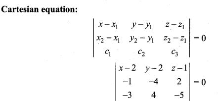 Samacheer Kalvi 12th Maths Solutions Chapter 6 Applications of Vector Algebra Ex 6.7 4