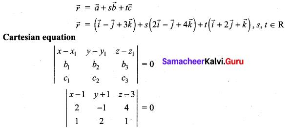 Samacheer Kalvi 12th Maths Solutions Chapter 6 Applications of Vector Algebra Ex 6.7 6