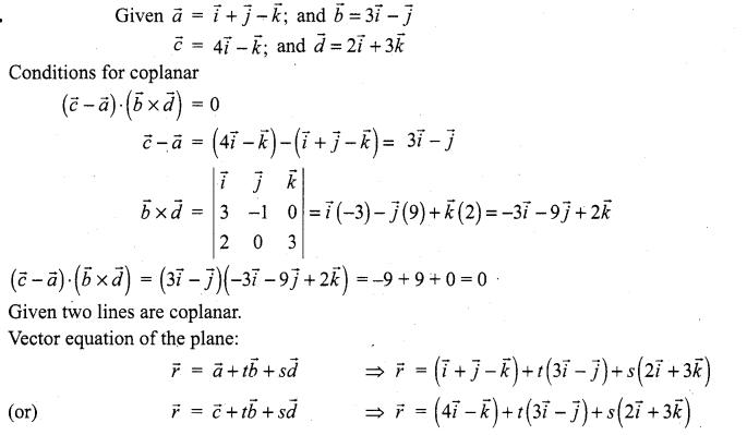 Samacheer Kalvi 12th Maths Solutions Chapter 6 Applications of Vector Algebra Ex 6.8 11