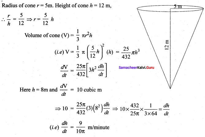 Class 12 Maths Solutions Chapter 7 Applications Of Differential Calculus Ex 7.1 Samacheer Kalvi