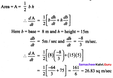 Samacheer Kalvi 12 Maths Solutions Chapter 7 Applications Of Differential Calculus Ex 7.1