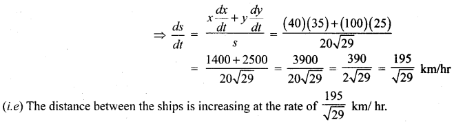 Maths Solutions Class 12 Samacheer Kalvi Chapter 7 Applications Of Differential Calculus Ex 7.1