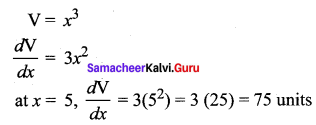 Std 12 Maths Solutions Samacheer Kalvi Chapter 7 Applications Of Differential Calculus Ex 7.1