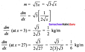 12th Maths 7th Chapter Solutions Samacheer Kalvi Applications Of Differential Calculus Ex 7.1