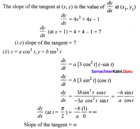 Samacheer Kalvi 12th Maths Solutions Chapter 7 Applications of Differential Calculus Ex 7.2 1