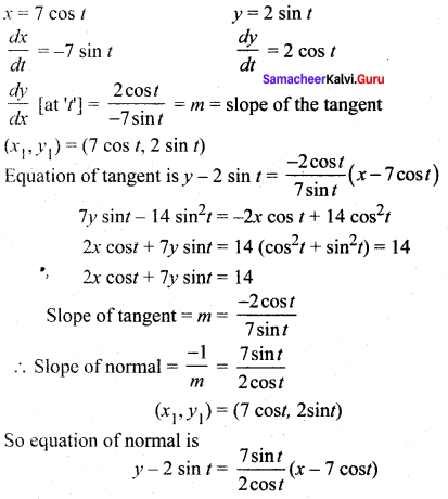 Samacheer Kalvi 12th Maths Solutions Chapter 7 Applications of Differential Calculus Ex 7.2 20