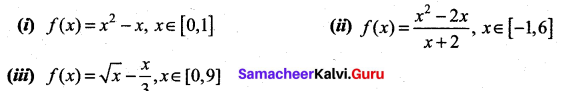 Samacheer Kalvi 12th Maths Solutions Chapter 7 Applications of Differential Calculus Ex 7.3 3