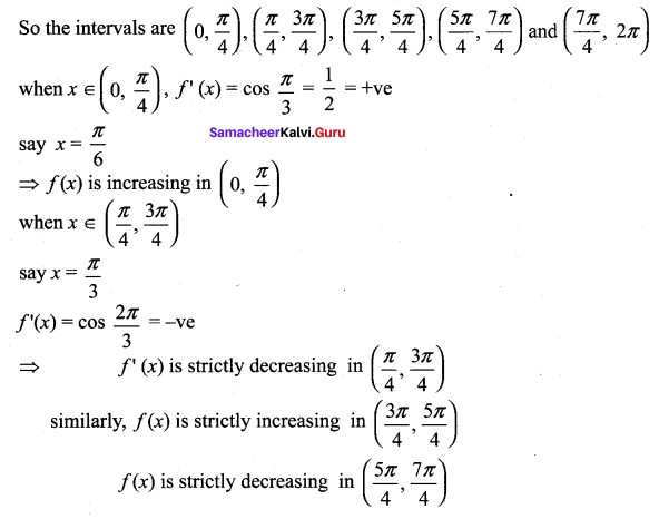 Samacheer Kalvi 12th Maths Solutions Chapter 7 Applications of Differential Calculus Ex 7.6 12