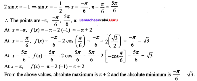 Samacheer Kalvi 12th Maths Solutions Chapter 7 Applications of Differential Calculus Ex 7.6 18