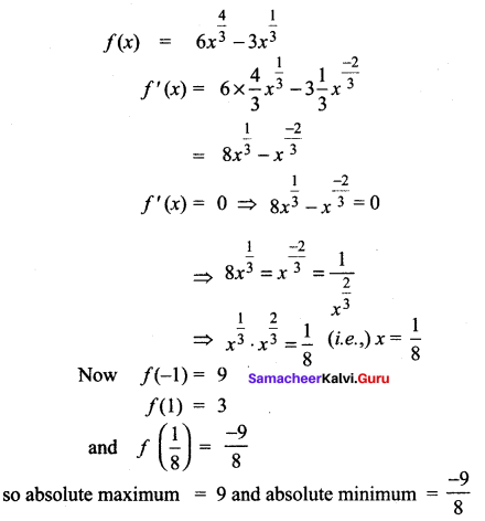 Samacheer Kalvi 12th Maths Solutions Chapter 7 Applications of Differential Calculus Ex 7.6 3