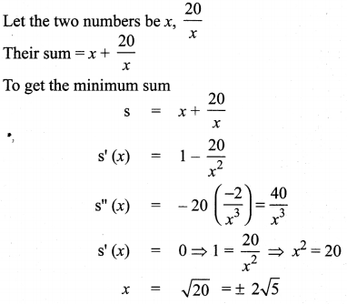 Samacheer Kalvi 12th Maths Solutions Chapter 7 Applications of Differential Calculus Ex 7.8 1