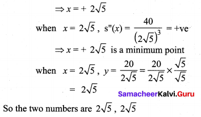 Samacheer Kalvi 12th Maths Solutions Chapter 7 Applications of Differential Calculus Ex 7.8 2