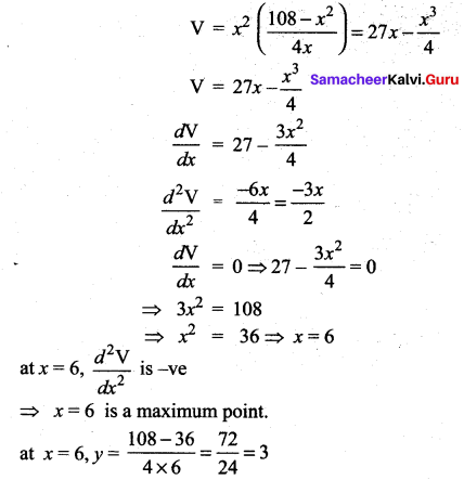 Samacheer Kalvi 12th Maths Solutions Chapter 7 Applications of Differential Calculus Ex 7.8 32