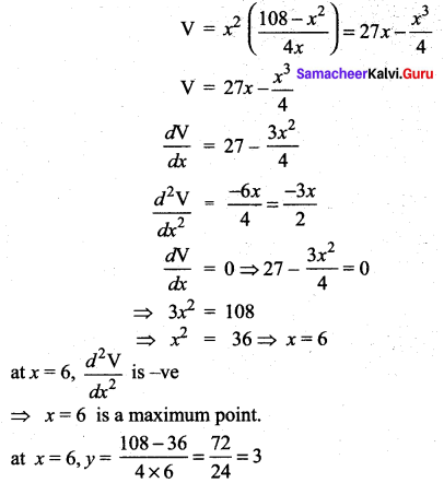 Samacheer Kalvi 12th Maths Solutions Chapter 7 Applications of Differential Calculus Ex 7.8 377
