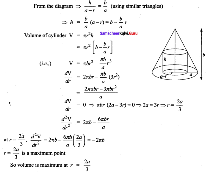 Samacheer Kalvi 12th Maths Solutions Chapter 7 Applications of Differential Calculus Ex 7.8 39