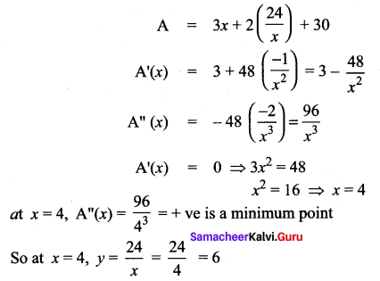 Samacheer Kalvi 12th Maths Solutions Chapter 7 Applications of Differential Calculus Ex 7.8 614