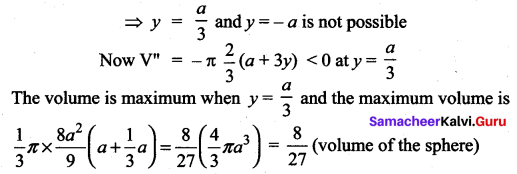 Samacheer Kalvi 12th Maths Solutions Chapter 7 Applications of Differential Calculus Ex 7.8 64