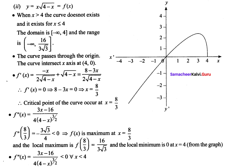 Samacheer Kalvi 12th Maths Solutions Chapter 7 Applications of Differential Calculus Ex 7.9 666