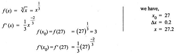 Samacheer Kalvi 12th Maths Solutions Chapter 8 Differentials and Partial Derivatives Ex 8.1 1