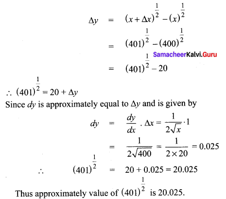 Samacheer Kalvi 12th Maths Solutions Chapter 8 Differentials and Partial Derivatives Ex 8.1 17