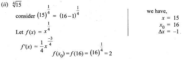Samacheer Kalvi 12th Maths Solutions Chapter 8 Differentials and Partial Derivatives Ex 8.1 5