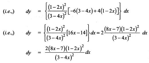 Samacheer Kalvi 12th Maths Solutions Chapter 8 Differentials and Partial Derivatives Ex 8.2 3