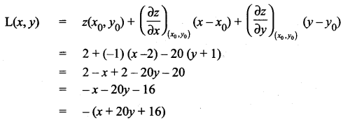 Samacheer Kalvi 12th Maths Solutions Chapter 8 Differentials and Partial Derivatives Ex 8.5 3