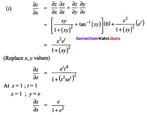 Samacheer Kalvi 12th Maths Solutions Chapter 8 Differentials and Partial Derivatives Ex 8.6 10