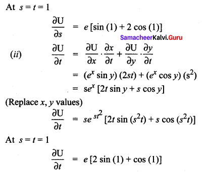 Samacheer Kalvi 12th Maths Solutions Chapter 8 Differentials and Partial Derivatives Ex 8.6 15