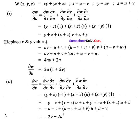 Samacheer Kalvi 12th Maths Solutions Chapter 8 Differentials and Partial Derivatives Ex 8.6 17