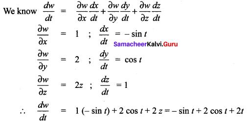Samacheer Kalvi 12th Maths Solutions Chapter 8 Differentials and Partial Derivatives Ex 8.6 21