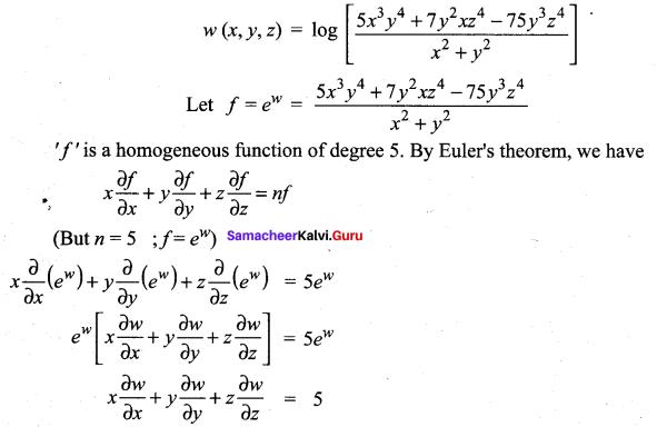 Samacheer Kalvi 12th Maths Solutions Chapter 8 Differentials and Partial Derivatives Ex 8.7 25
