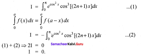 Samacheer Kalvi 12th Maths Solutions Chapter 9 Applications of Integration Ex 9.10 10