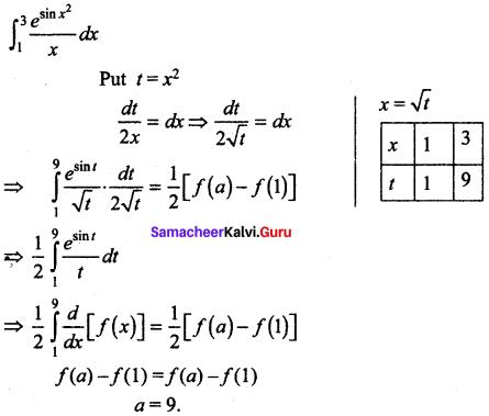 Samacheer Kalvi 12th Maths Solutions Chapter 9 Applications of Integration Ex 9.10 42