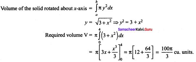 Samacheer Kalvi 12th Maths Solutions Chapter 9 Applications of Integration Ex 9.10 62
