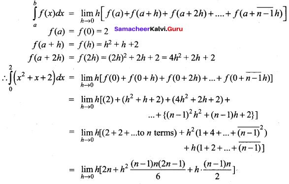 Samacheer Kalvi 12th Maths Solutions Chapter 9 Applications of Integration Ex 9.2 12